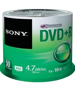 DVD+R Sony 16x 4.7 GB, 50 бр., шпиндел