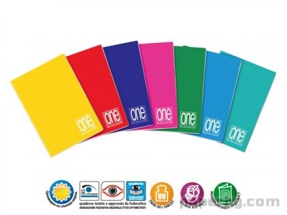 Тетрадка A5 UV One Color шита, 42 л.5x5, 80 г/м2