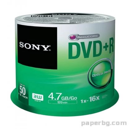 CD-R 80min/700MB SONY, 48x, 50 бр., шпиндел
