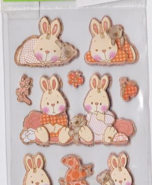 Стикер - Pegatinas Stickers - rabbits